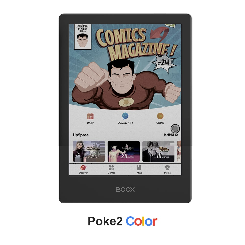onyx boox poke 2 color screenshot